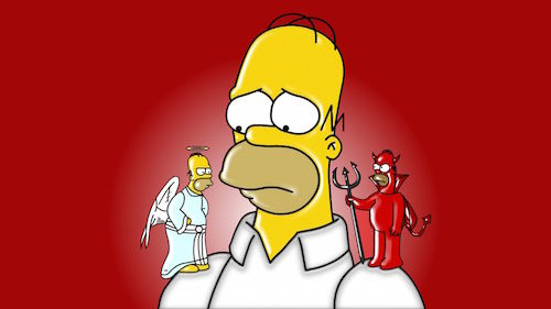 Simpsons_AngelAndDevilHomer